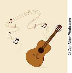 guitar design over white background vector illustration