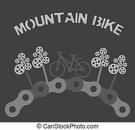 mountain bike design over gray background vector...