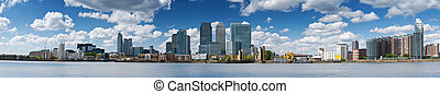 Canary Wharf Skyline - Panoramic picture of Canary Wharf ,...