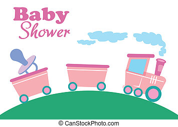 baby shower design - baby shower card vector illustration