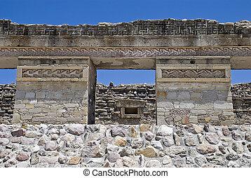 ruines, Précolombien, palais, Mitla, Mexique