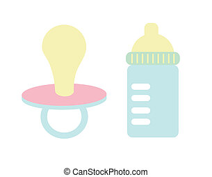 baby toys over colorful background vector illustration