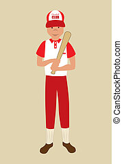 baseball league over blue background vector illustration