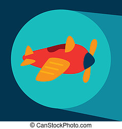 baby airplane toy over blue background vector illustration