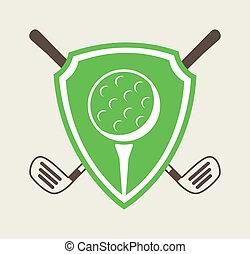 golf design over white background vector illustration