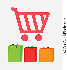 shopping design - shopping icon design over gray background...