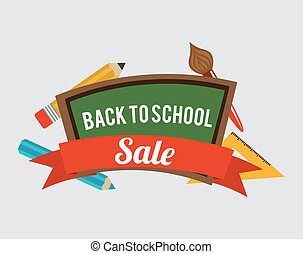 Back to School - school design over background vector...