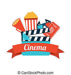 Cinema - cinema design overwhite background vector...