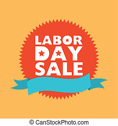 Labor Day - Labor day stamp on yellow background