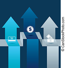 Finance design over blue background vector illustration