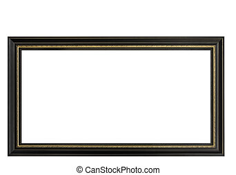 High Resolution Empty Frame Isolated on White Background -...