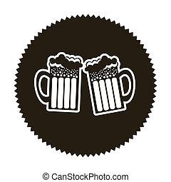 beer design over beige background vector illustration