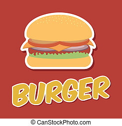 fast food design over red background vector illustration