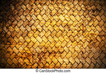 concept old bamboo craft texture with cracks background