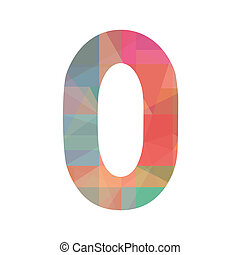 Colorful number zero - Number zero for design and decoration...