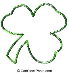 Shamrock - An illustration of a three leaf shamrock.