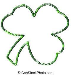 Shamrock - An illustration of a three leaf shamrock.