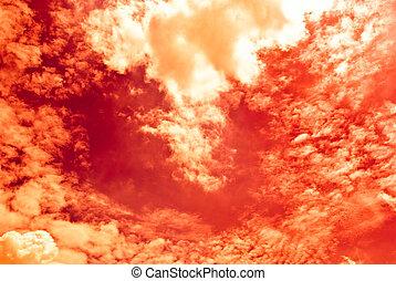 Fiery red Sky