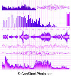 Sound waves set. Music background. EPS 10 vector file...