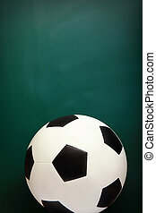 Soccer and Chalkboard, copy space is great for your design