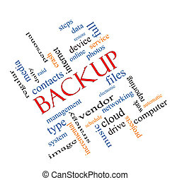 Backup Word Cloud Concept Angled - Backup Word Cloud Concept...
