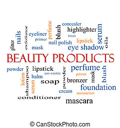 Beauty Products Word Cloud Concept