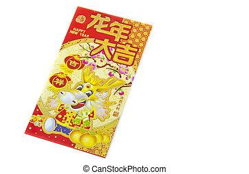Chinese Red dragon Envelope