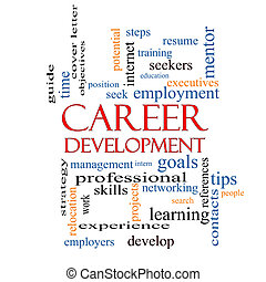 Career Development Word Cloud Concept with great terms such...