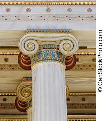 classical Ionic column capital