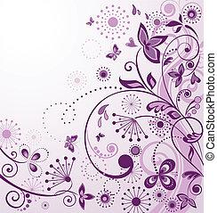 Vintage greeting violet card