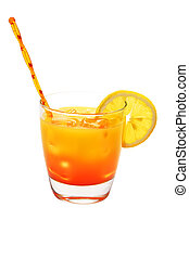 Tequila Sunrise Isolated - Tequila Sunrise isolated on white...
