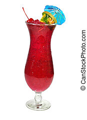 Hurricane Drink Isolated - Hurricane tropical drink isolated...