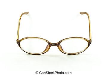 nerd eye glasses, isolated