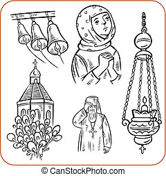 宗教, 矢量,  -, 插圖, 正統