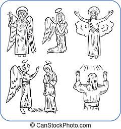 Angels and saint