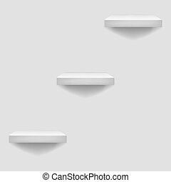 White Shelf Hanging on a Wall Template Background  Vector Illustration