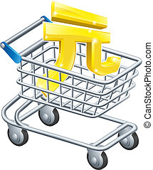 Yuan money trolley concept - Yuan currency trolley concept...