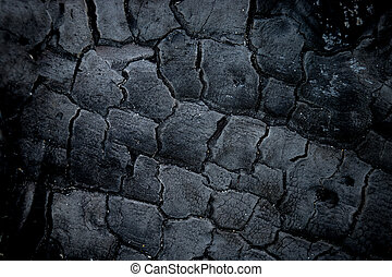 surface of charcoal