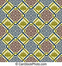Vector Seamless Pattern - vector seamless pattern in eastern...
