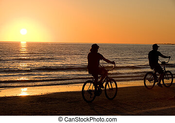Riding bike together - Riding bike on Floridian Fort Meyers...