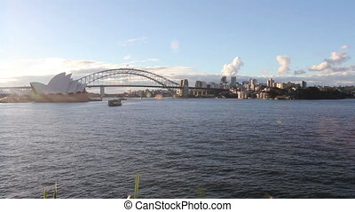 The Sydney Opera House, viewed from Circular Quay in Sydney,...