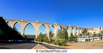 Aquaduct panorama - Beautiful wide angle panorama of the...