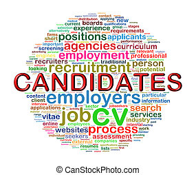 Word tags circular wordcloud of candidate - Illustration of...