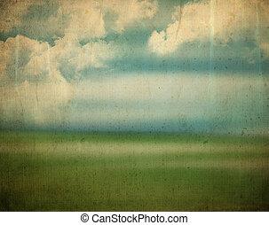 Vintage landscape background