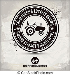 farm fresh & locally grown stamp - alternative farm fresh &...