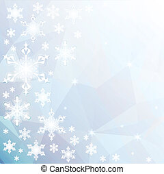 Christmas background with snowflakes. EPS 10