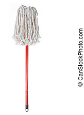 Large Mop Upside Down Isolated on White Background