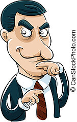 Sneaky Businessman - A cartoon businessman with a sly look...