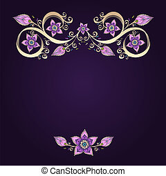 Decorative floral background with flowers. Retro flowers...