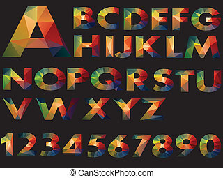 letters colour of Illustration vector